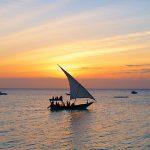 Zanzibar en safari dhow sunset