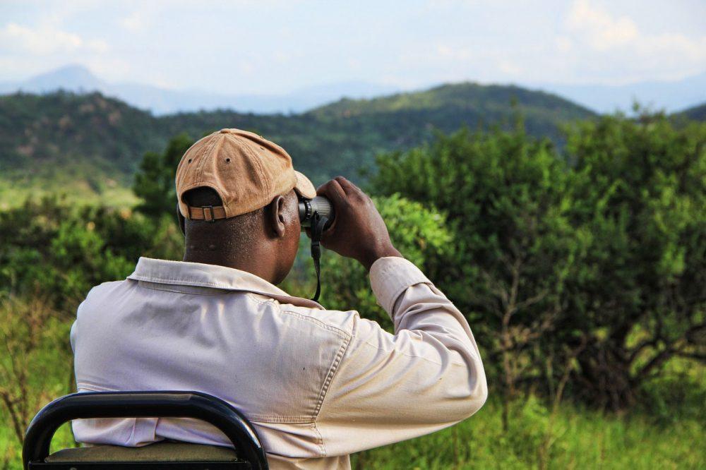 Safari kleding verrekijker