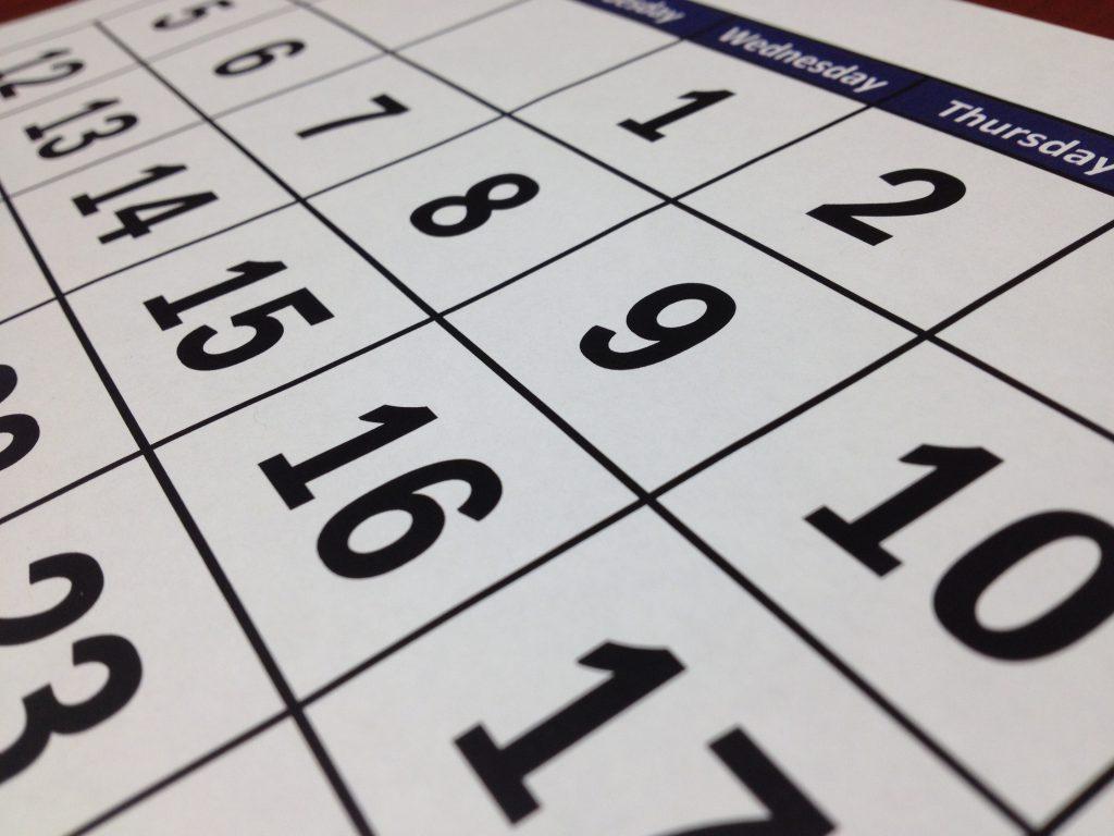Malaria Krugerpark kalender